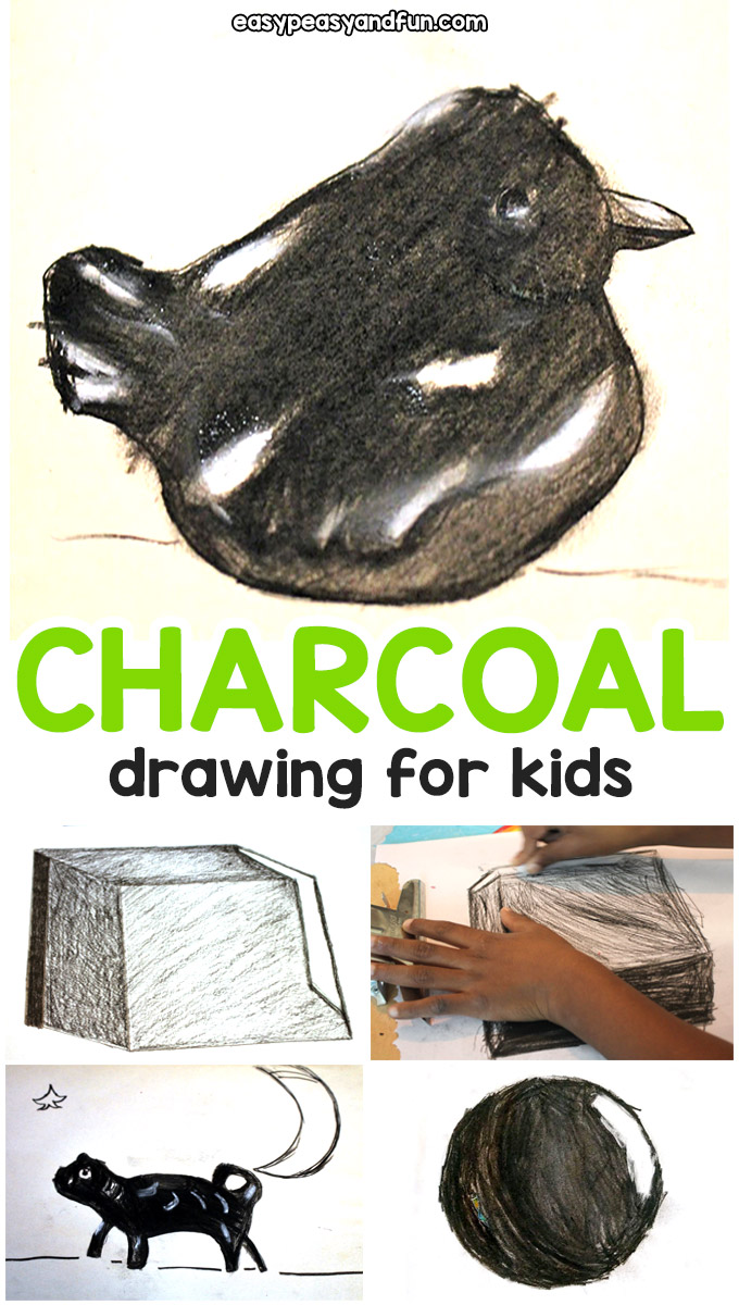 Easy Charcoal Drawing for Kids