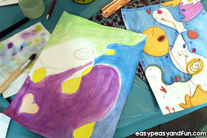 Easy Joan Miro Art Lesson for Kids