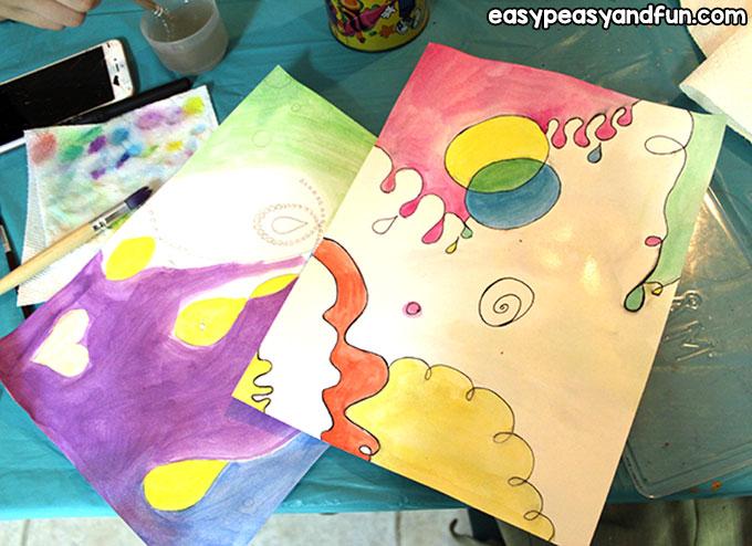 Easy Joan Miro Watercolor Art