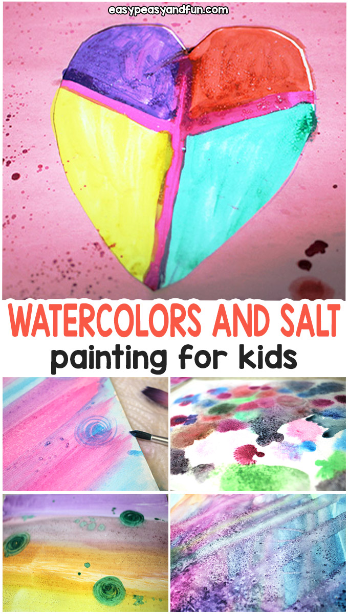 Easy Painting With Watercolors and Salt
