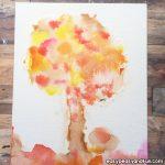 Fall Bleeding Tissue Paper Art Idea