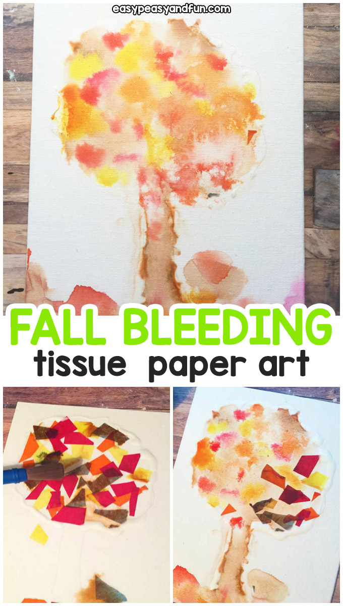 Fall Bleeding Tissue Paper Art