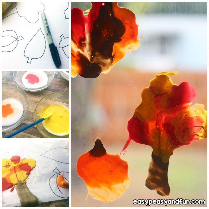 Fall Window Clings Craft Idea