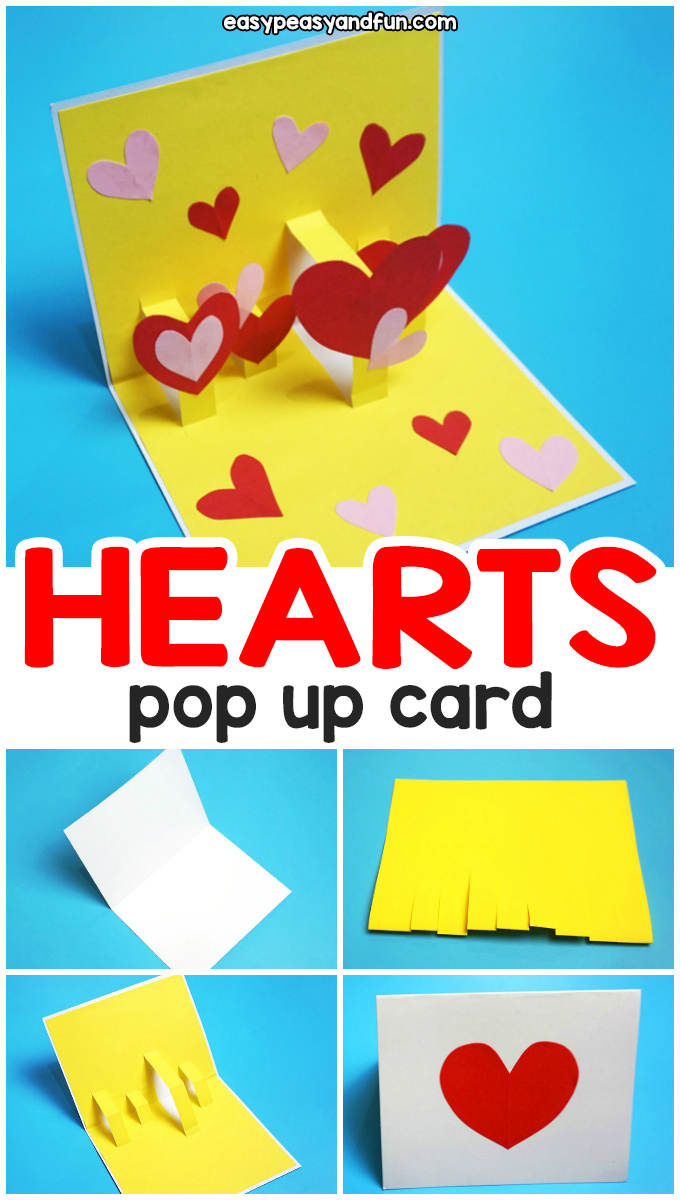 Heart Valentines Day Pop Up Card Easy Peasy And Fun