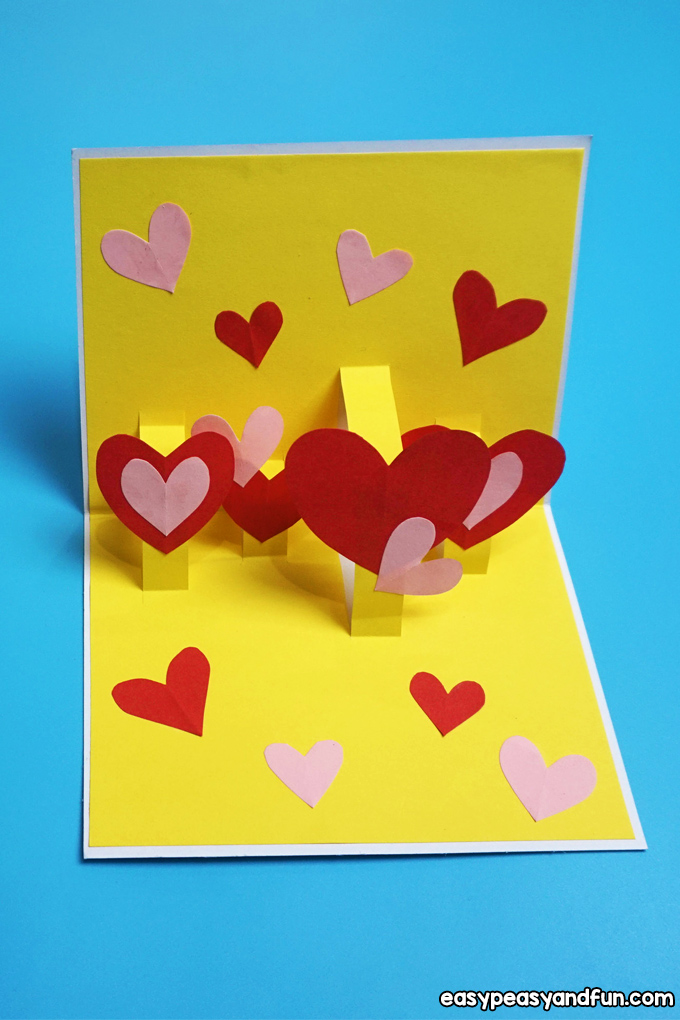Heart Valentines Day Pop Up Card Craft for Kids