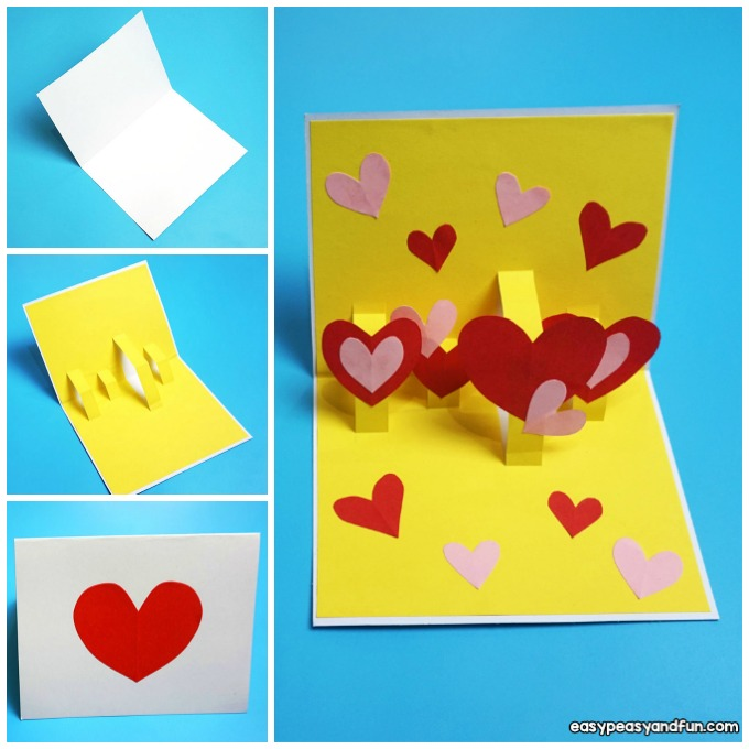 Heart Valentines Day Pop Up Card Idea