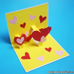 Heart Valentines Day Pop Up Card for Kids