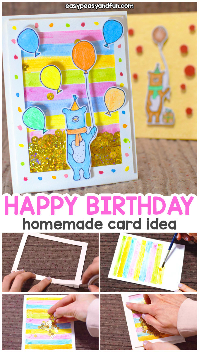 How to Make a Birthday Shaker Card - Homemade Birthday Card Idea