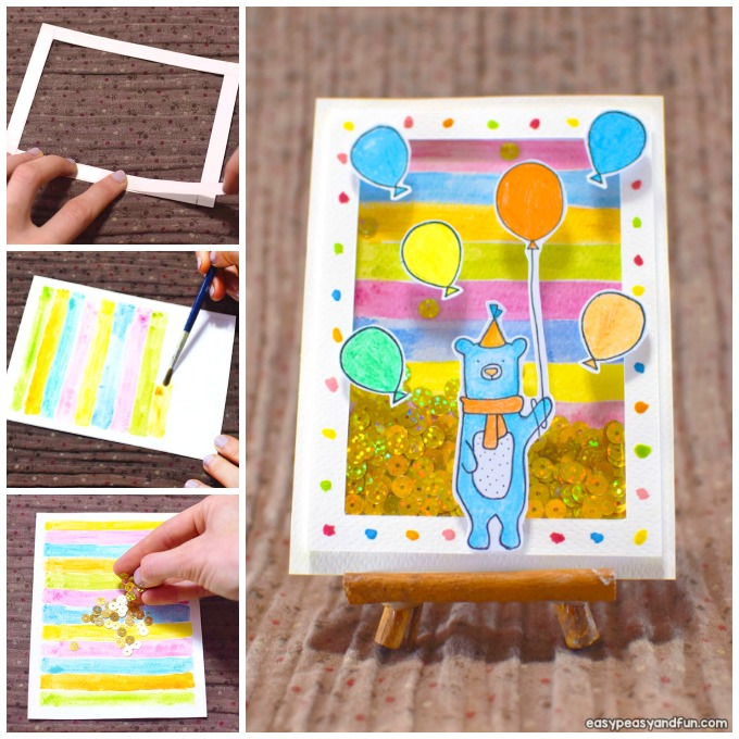 How to Make a Birthday Shaker Card Craft Idea