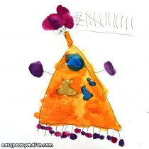 Joan Miro Watercolor art for Kids + Lesson on Joan Miro