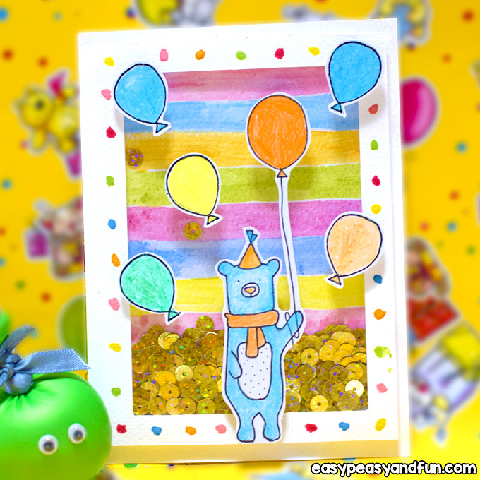 Make a Birthday Shaker Card for Kids