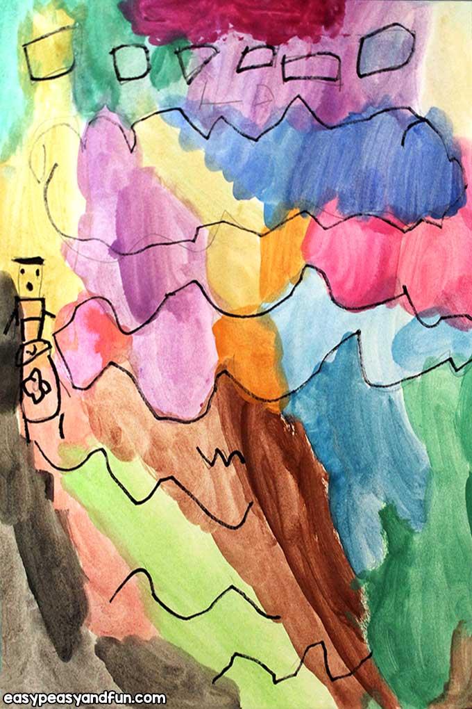 Make a Joan Miro Art with Watercolors