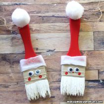 Paintbrush Santa Ornament – DIY Christmas Ornament
