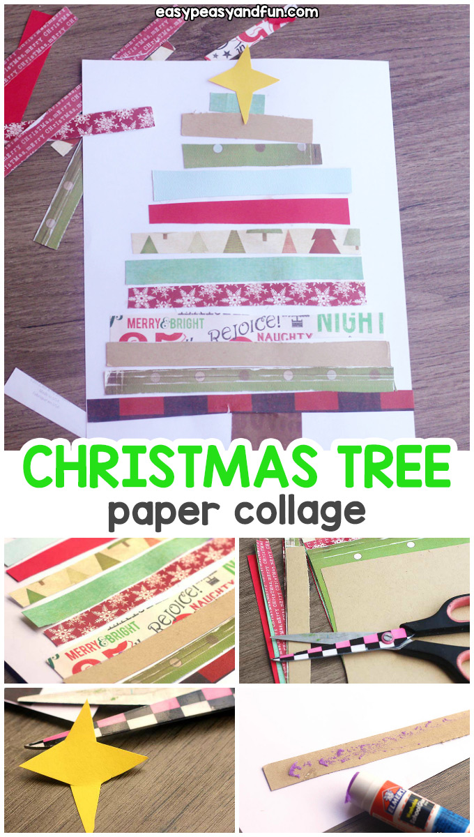 Paper Collage Christmas Tree Craft
