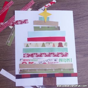 Paper Collage Christmas Tree for Kids