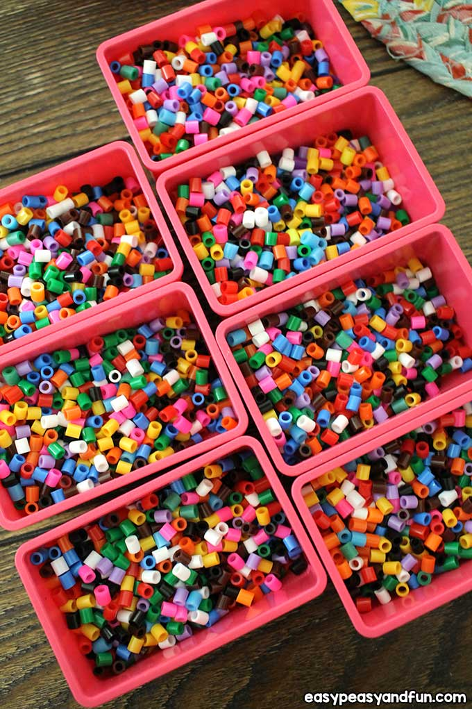 Perler Beads in Boxes