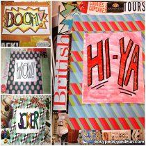 Pop Art Lesson for Kids – Lichtenstein Mixed Media
