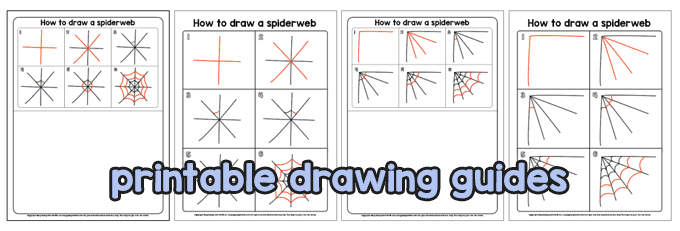 Printable Drawing Guides - Spiderweb