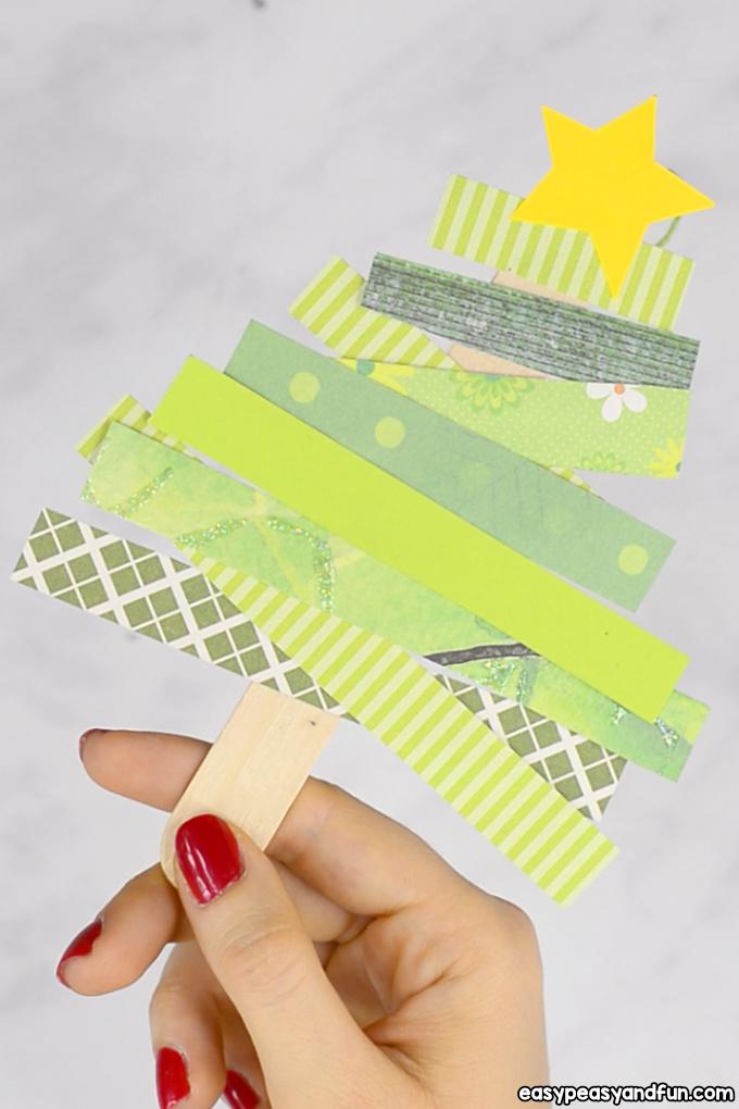 Scrap Paper Christmas Tree Craft Idea