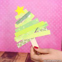 Scrap Paper Christmas Tree Craft
