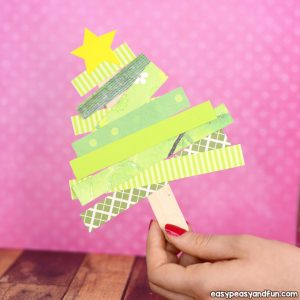 Scrap Paper Christmas Tree Craft for Kids