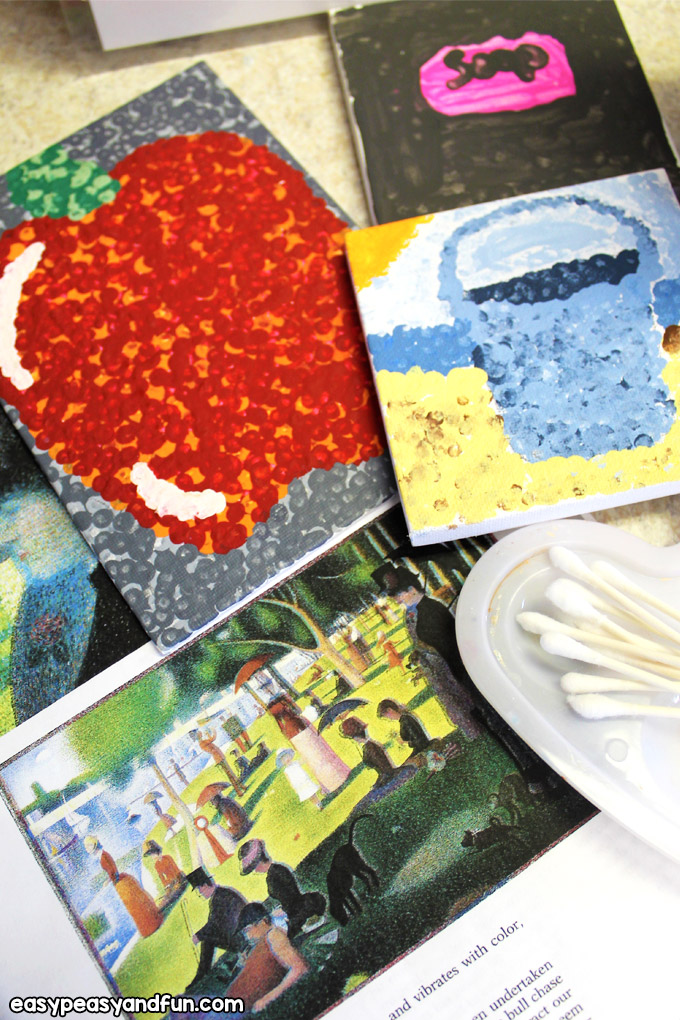 Seurat Pointillism Art Lesson for Kids
