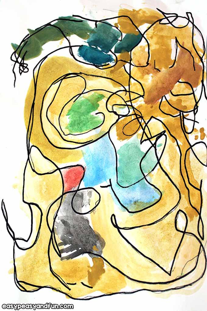 Simple Joan Miro Art Lesson