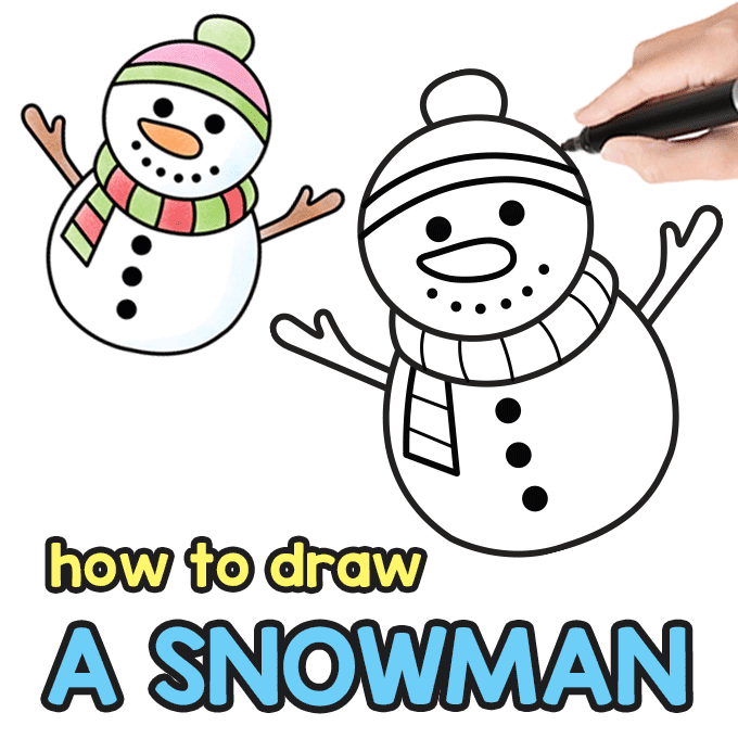 Snowman Directed Drawing Guide