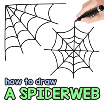 How to Draw a Spiderweb – Step by Step Cobweb Drawing Tutorial
