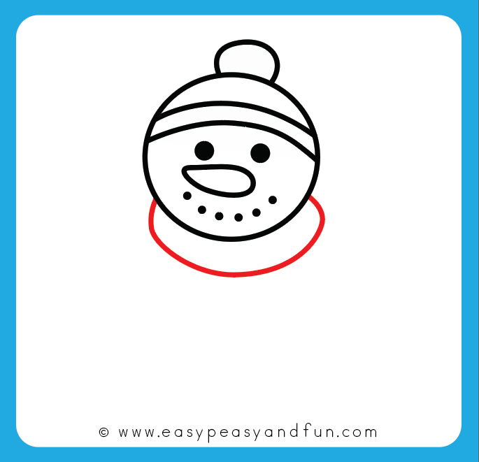 How To Draw A Snowman Step By Step Drawing Guide Easy Peasy