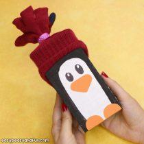 Wood Block Penguin Craft