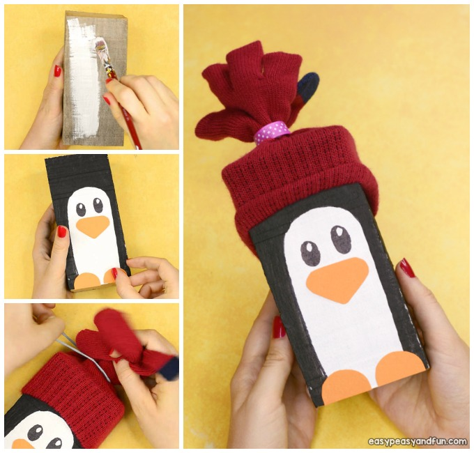 Wood Block Penguin Craft for Kids to Make