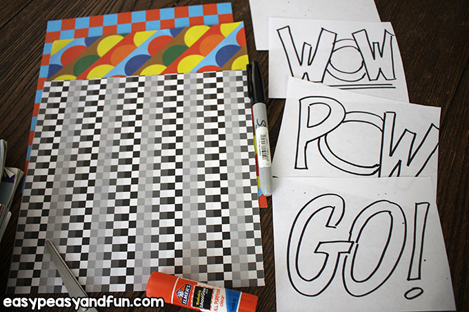 Words to Color for Pop Art