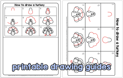 printable drawing guides turkey