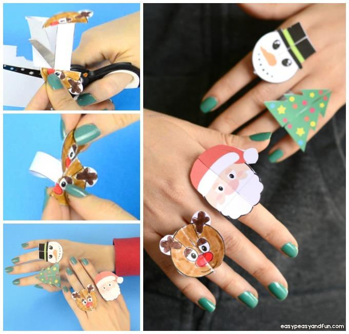 Adorable Printable Christmas Paper Rings for Kids