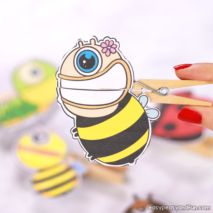 Bee Clothespin Puppet