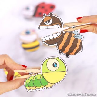 Bugs Clothespin Puppets for Kids