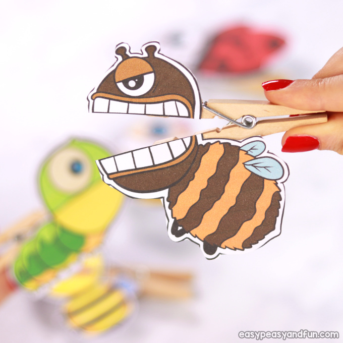 Bugs Clothespin Puppets