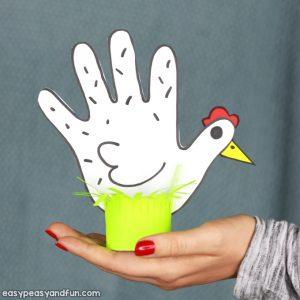 Chicken Handprint Craft Idea