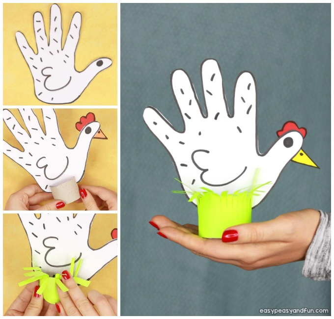 Chicken Handprint Craft Idea for Kids