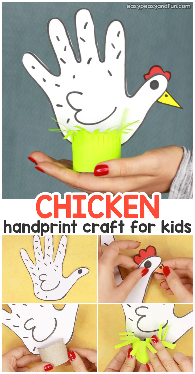 Chicken Handprint Craft For Kids Easy Peasy And Fun