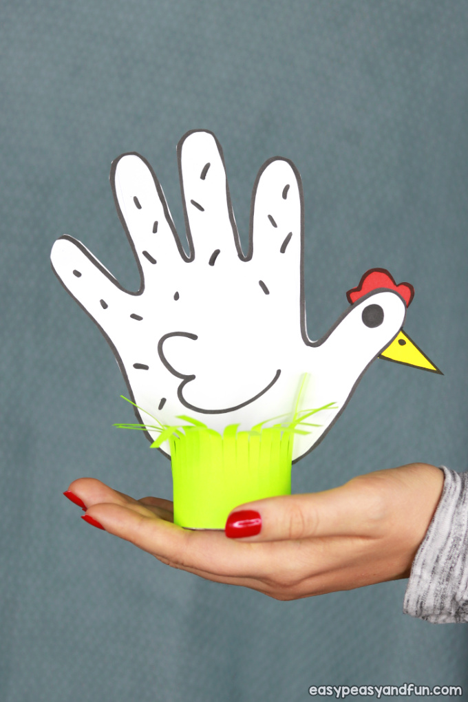 Chicken Handprint Craft