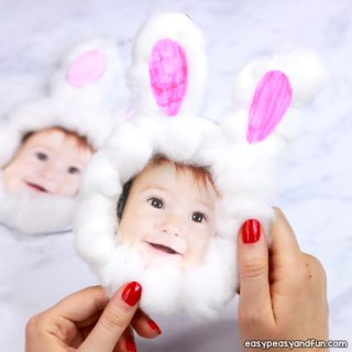 Cotton Ball Bunny Craft for Kids