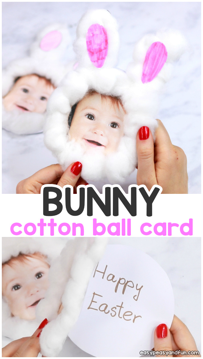 Cotton Ball Bunny Craft For Kids With Printable Template