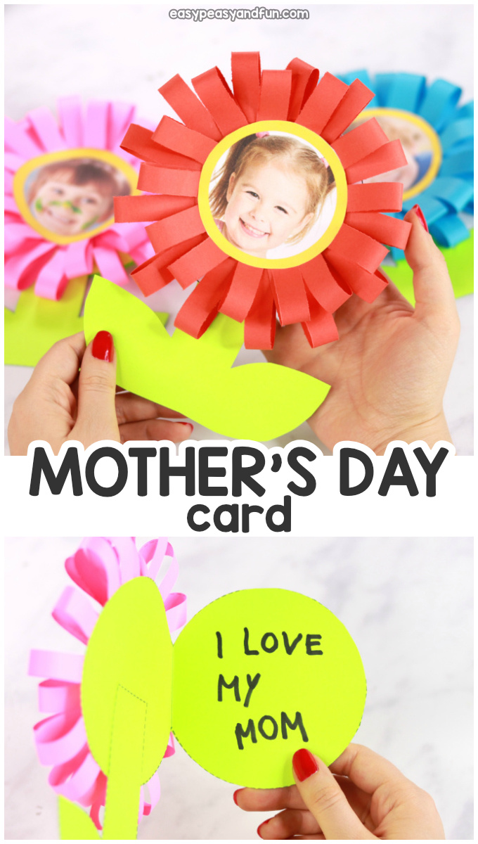 DIY Flower Mothers Day Card Idea for Kids