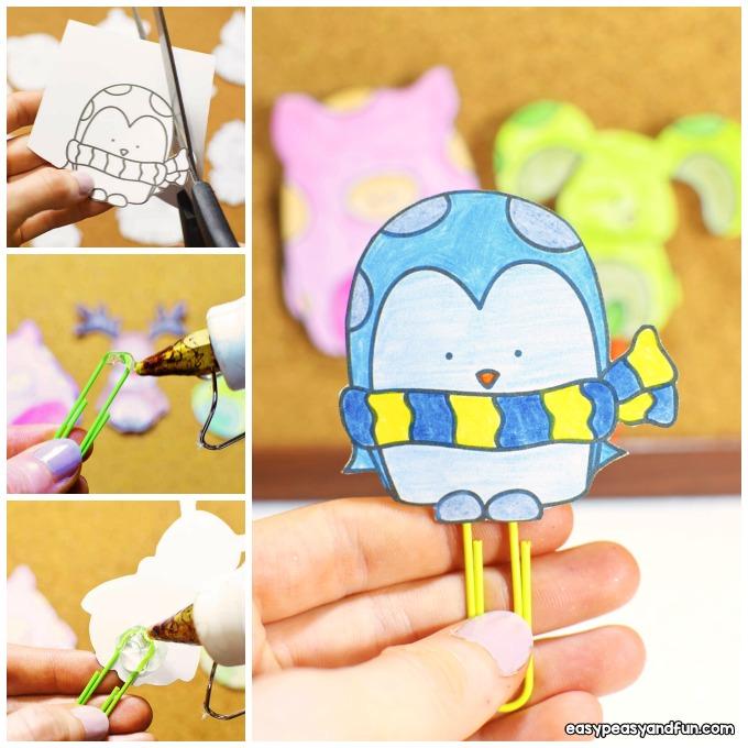 DIY Paper Clip Bookmarks Idea for Kids to Make