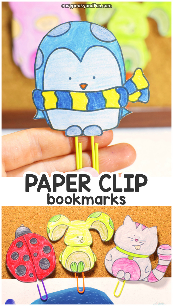 DIY Paper Clip Bookmarks for Kids