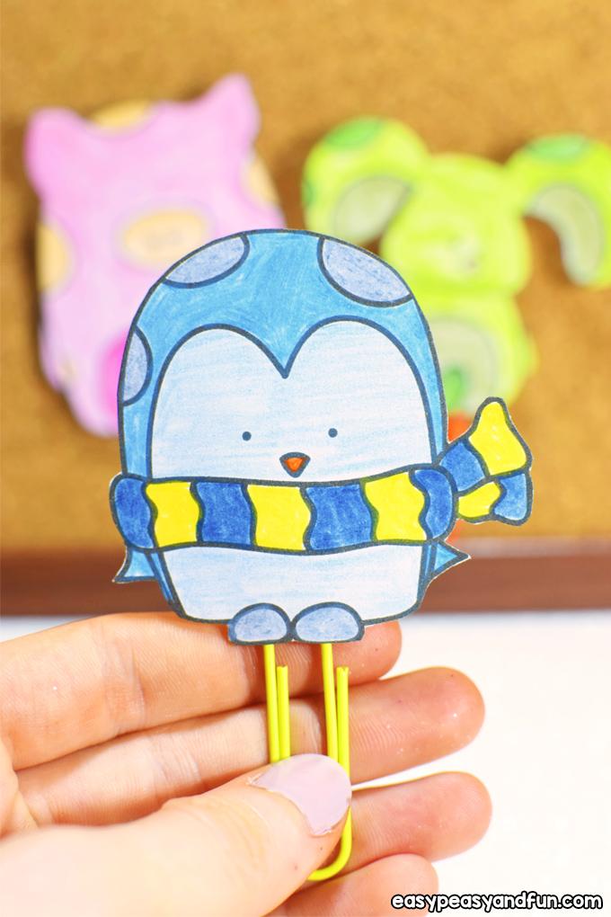 DIY Paper Clip Bookmarks for Kids
