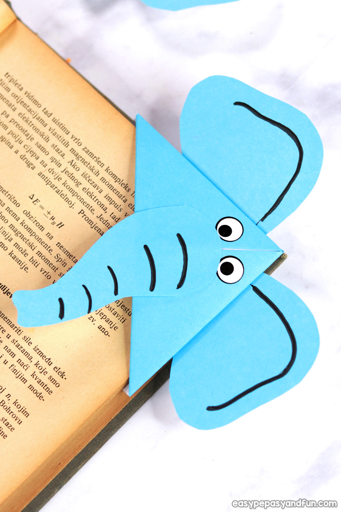 Elephant Corner Bookmark Design