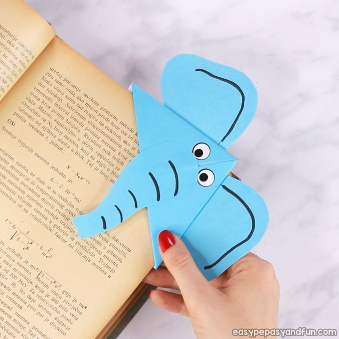 Elephant Corner Bookmark Idea